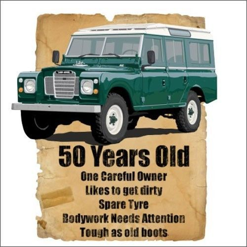50 Year Old 50th Birthday Gift Land Rover Funny Stupid Tees T-Shirt in Clothes, Shoes & Accessories, Men's Clothing, T-Shirts | eBay!