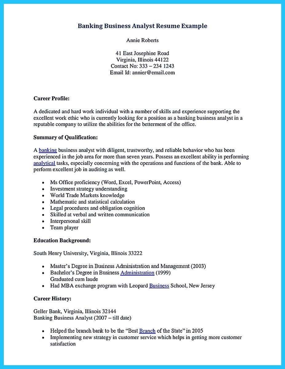 One of Banking Resume Examples to Learn