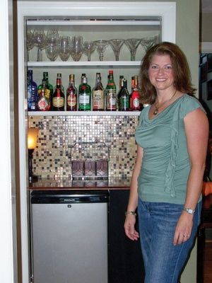 Closet Bar With Mini Fridge Wine Liquor Storage Put A