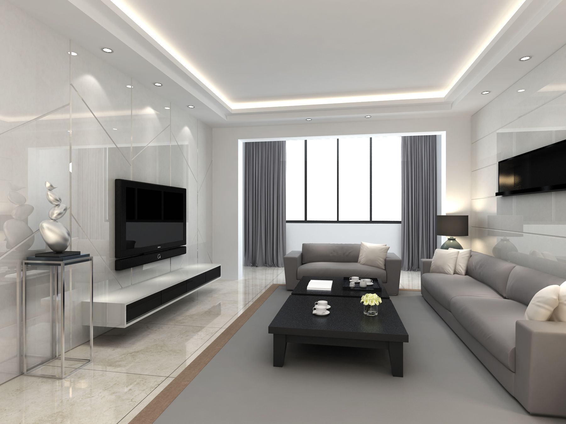 9 Awesome Minimalist Interior Design  Ceiling design living room