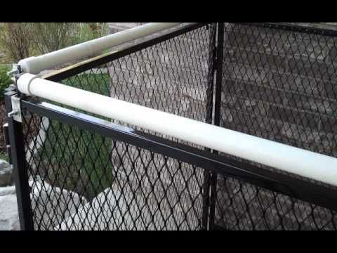 Pvc Rolling Fence Topper For Dogs Who Climb Cat Fence Dog Proof Fence Cat Proofing