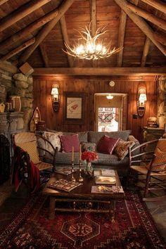 Elegant 58 Wooden Cabin Decorating Ideas | Home Design Ideas, DIY, Interior Design  And More