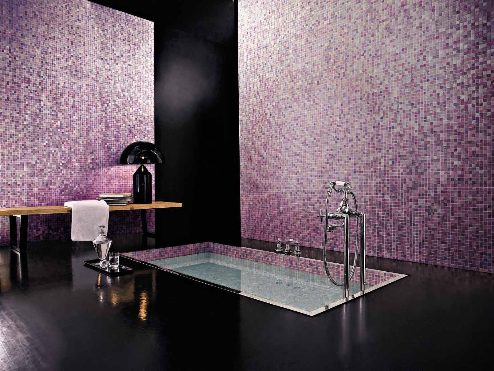 Bisazza Blends U0027Vetri Blendsu0027 Kyoto Blends Consist Of Variations Of 20 X 20  Mm Italian Glass Mosaic Tiles To Create Stunning Colour Combinations.