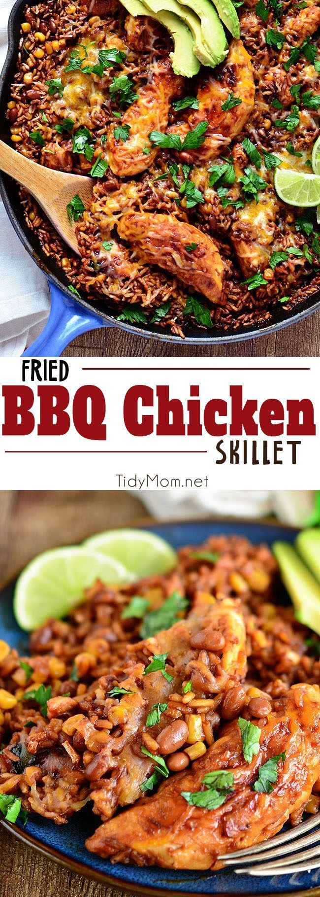 Fried BBQ Chicken Skillet Dinner | #HealthyEating #CleanEating Sherman Financial Group
