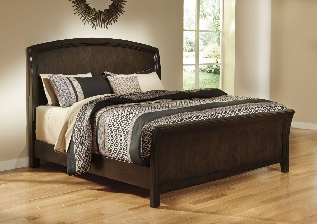 Lanquist King Size Bed Sleigh Beds Bed Furniture