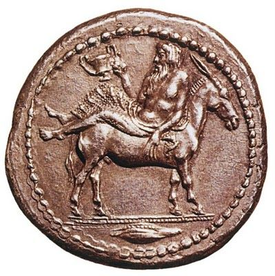 Coin from the ancient kingdom of Mendi! The ancient city where Possidi's Temple of Poseidon belonged to at 5th century B.C