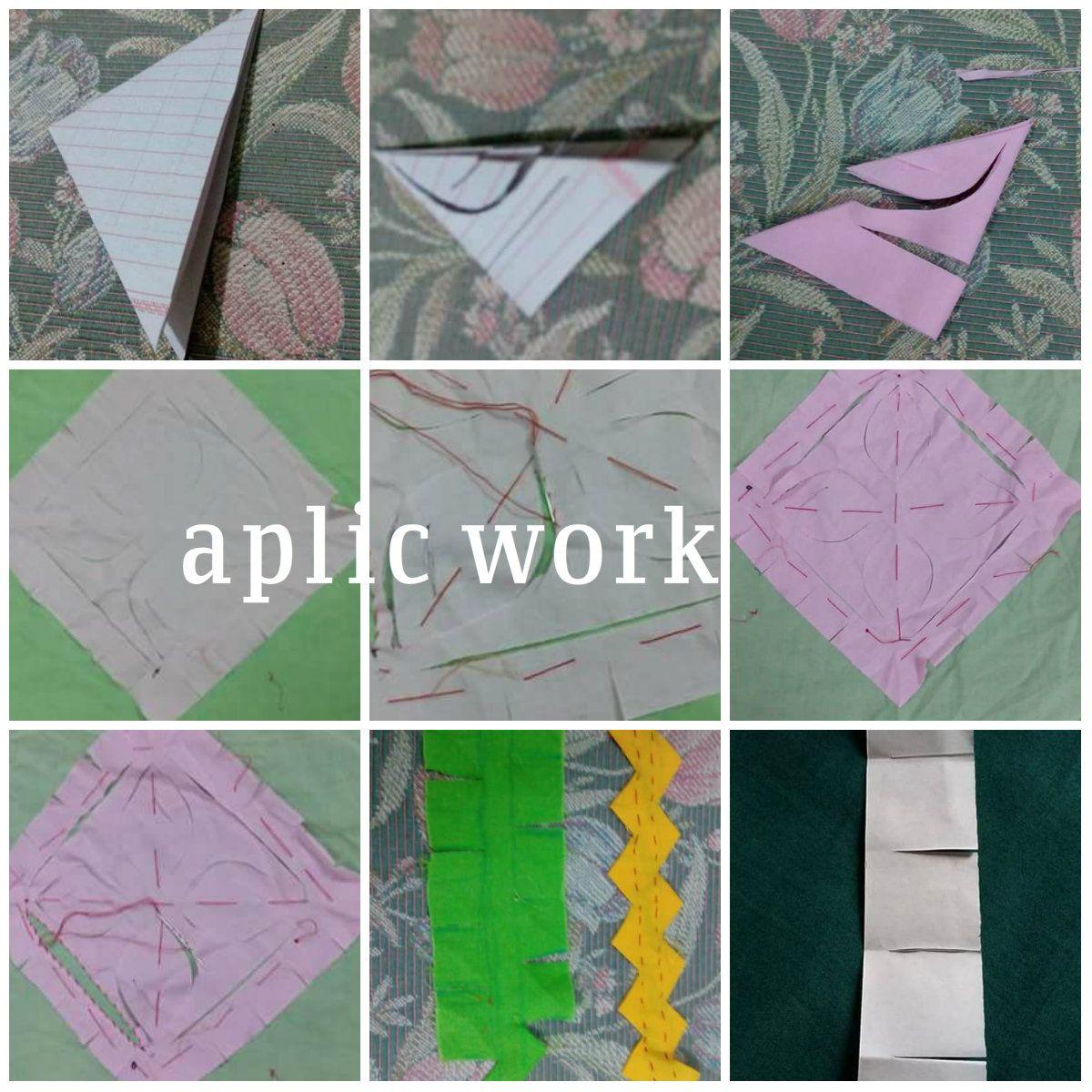 aplic work | Aplic work: Rilli Work | Pinterest