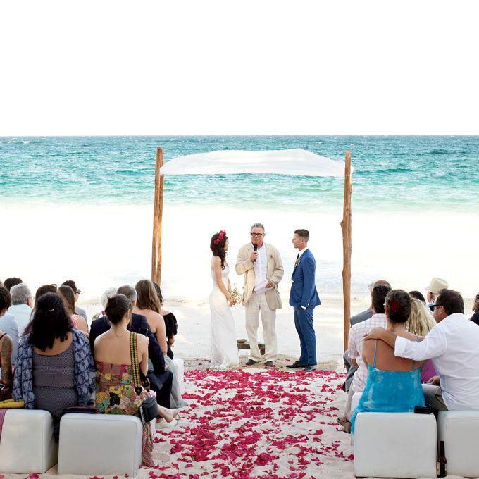 Brides Casual Beach Wedding Ceremony