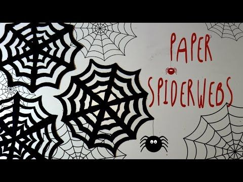 Halloween Crafts Kirigami Spider Web W One Sheet Of Paper