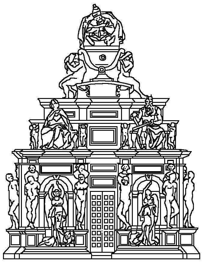 tomba giulio ii michelangelo progetto del 1505- Cerca con Google