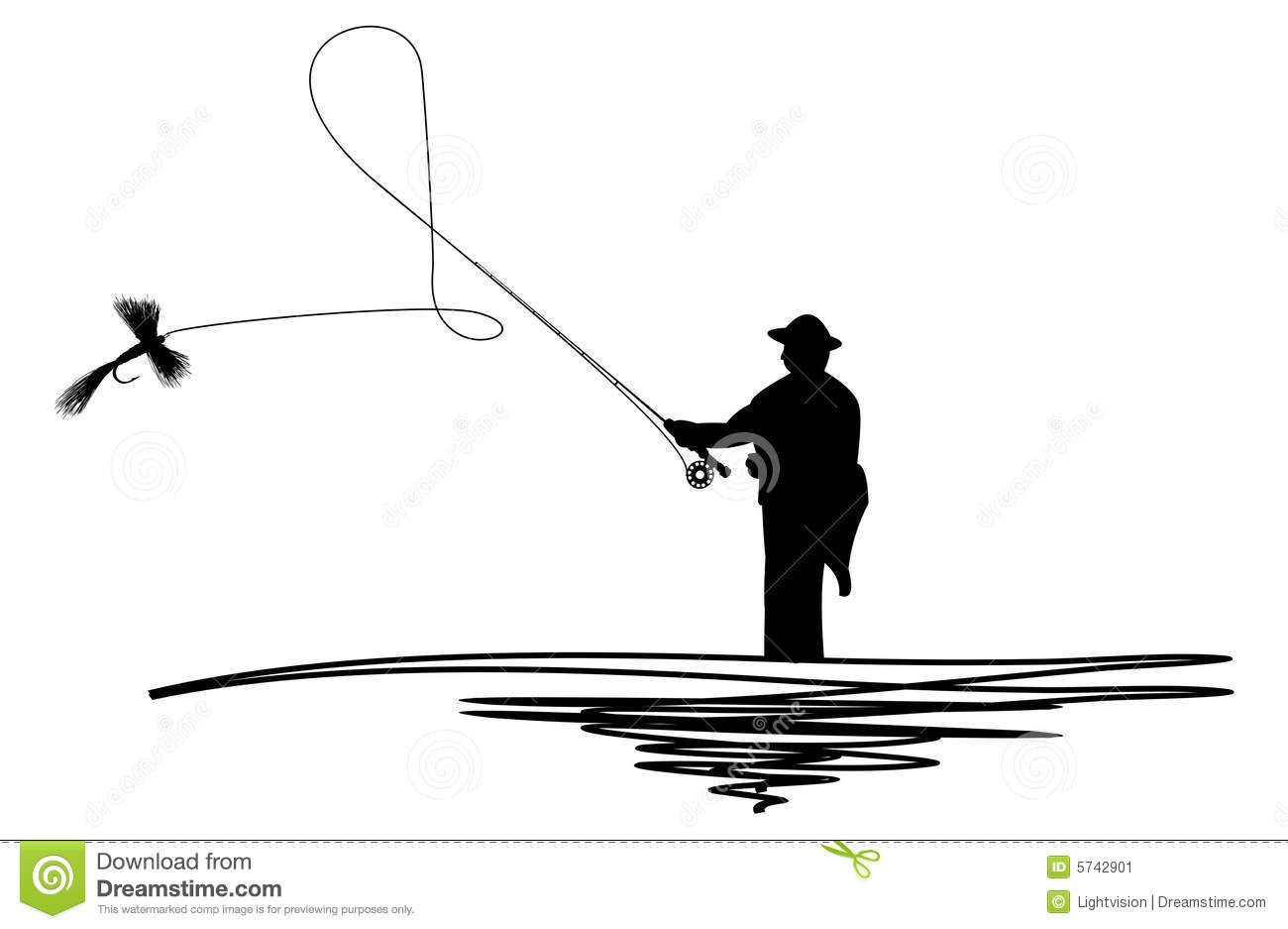 Fisherman Silhouette Clipart Clipart Kid Fly Fishing Tattoo Fisherman Silhouette Silhouette Illustration