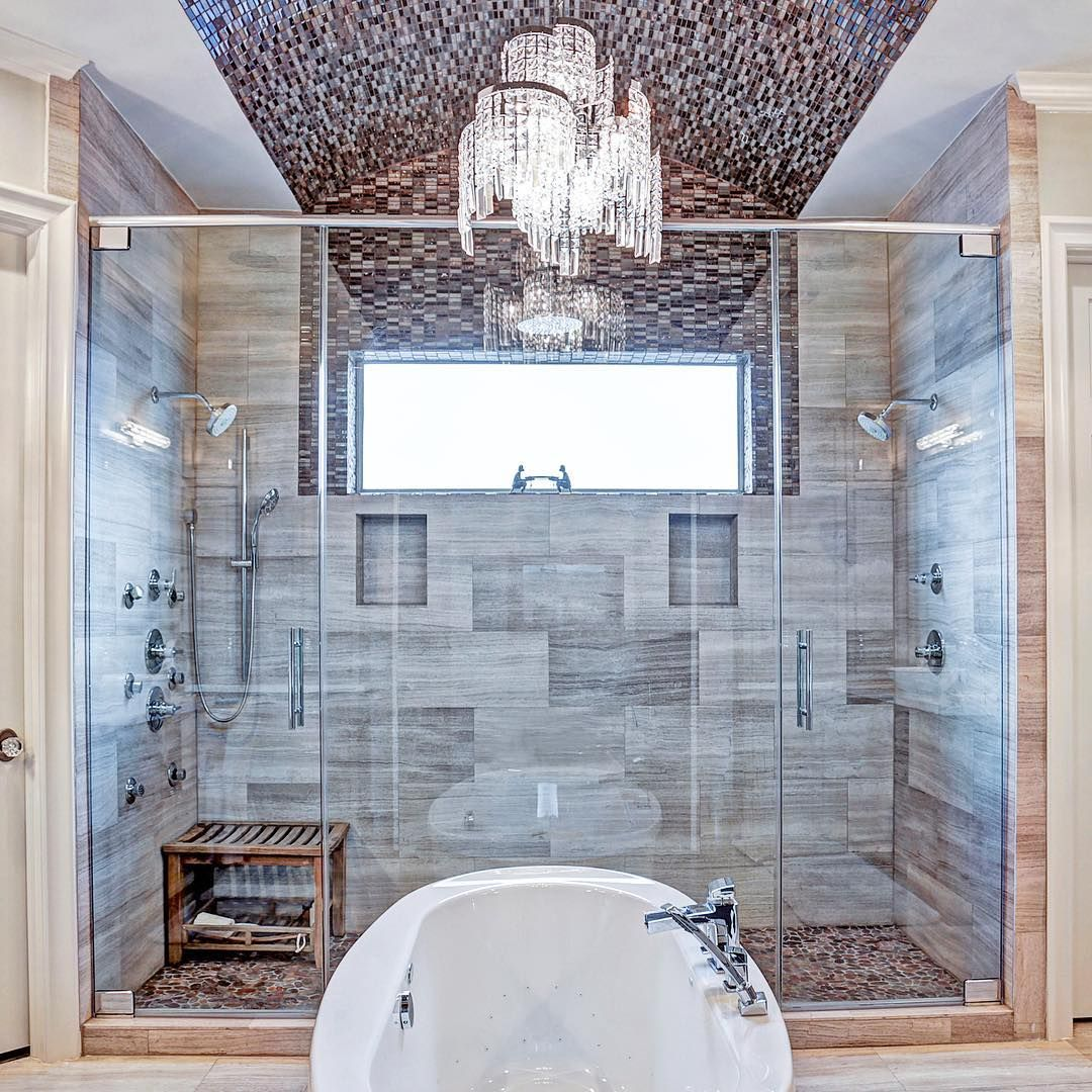 Jaw dropping shower Via IG @ozinteriors #InteriorDesign ...