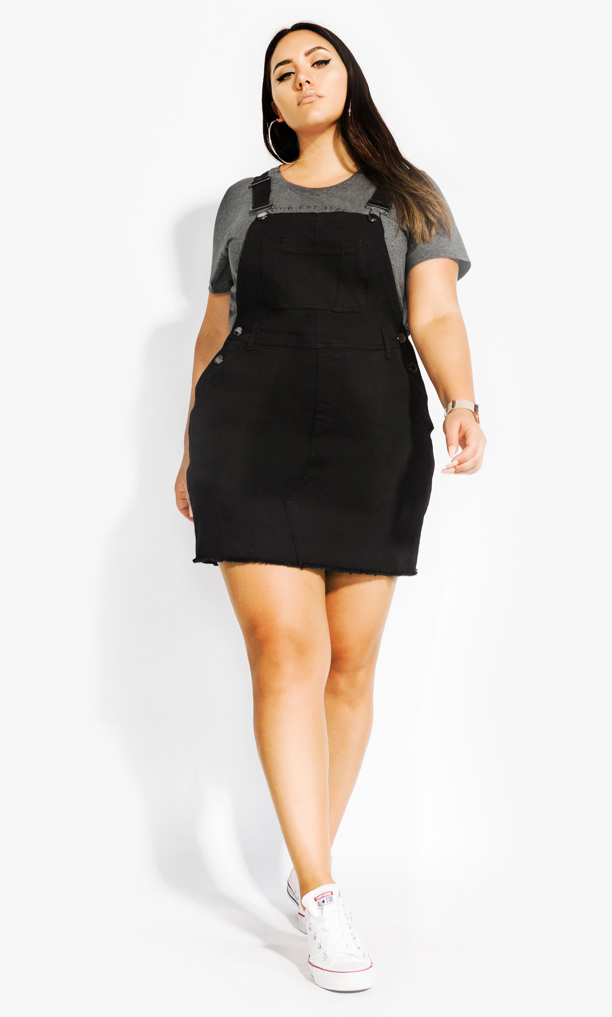 Denim Bib Dress Black Plus Size Outfits Curvy Outfits Outfits Gorditas [ 3984 x 2400 Pixel ]