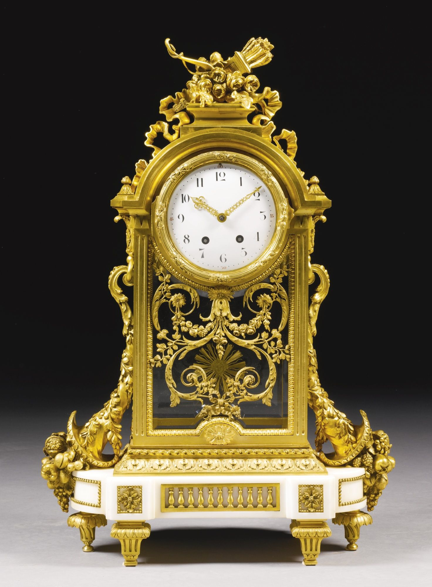 A Large Gilt Bronze And White Marble Mantel Clock French Circa 1890 Lot Sotheby S Antique Clocks Classic Clocks Antique Wall Clocks