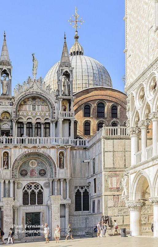 Photo of Basilica di San Marco Façade Facing the Palazzo Ducale, Venice, Italy