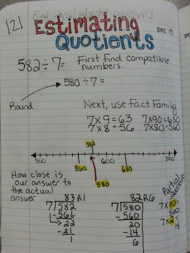 Estimating quotient and division practice | Fifth grade math ...