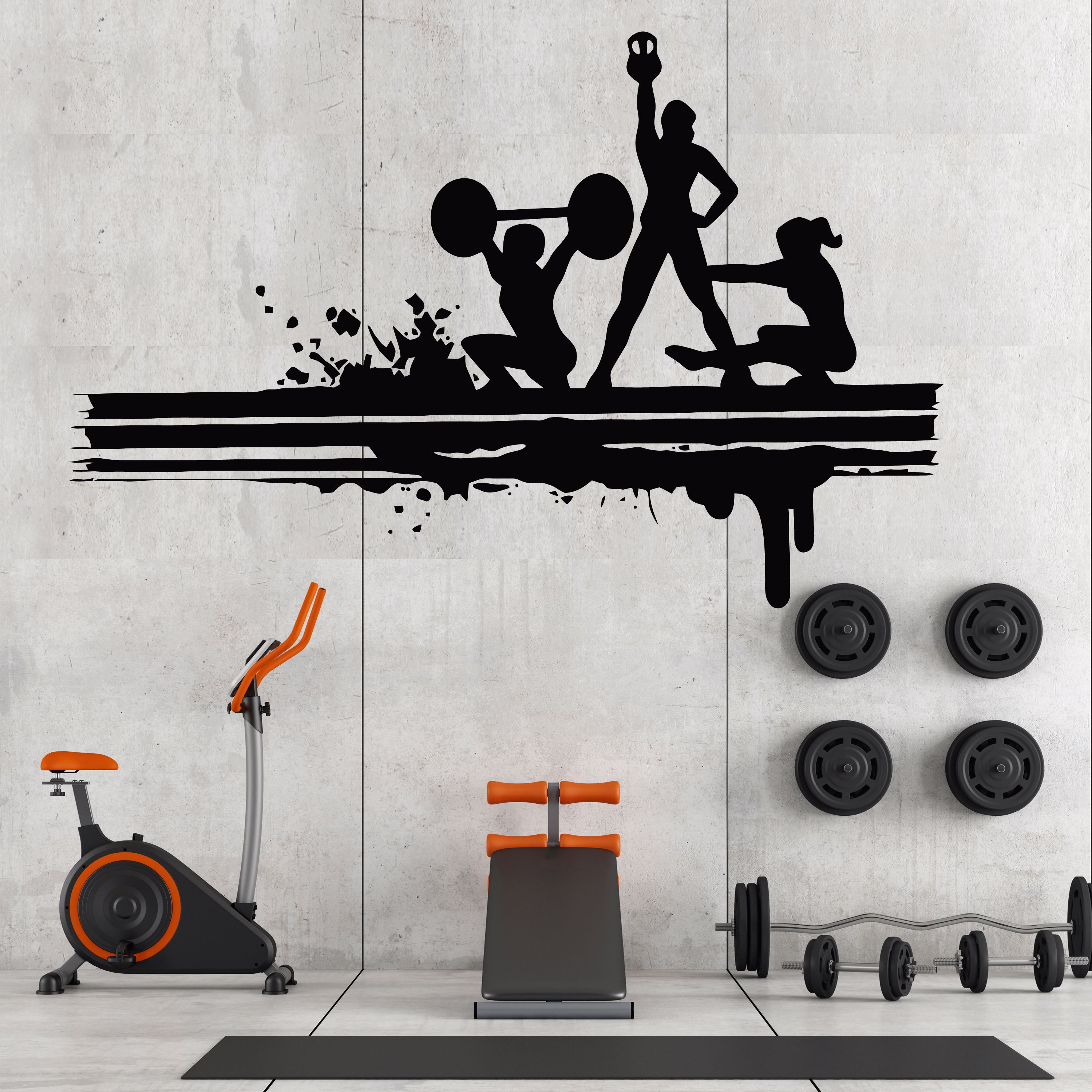 Gym Wall Decals Gym Wall Quotes Workout Wall Motivational Quotes Fitness Wall Decor Gym Wall Decor Gym Wall Decal Gym Wall Quotes