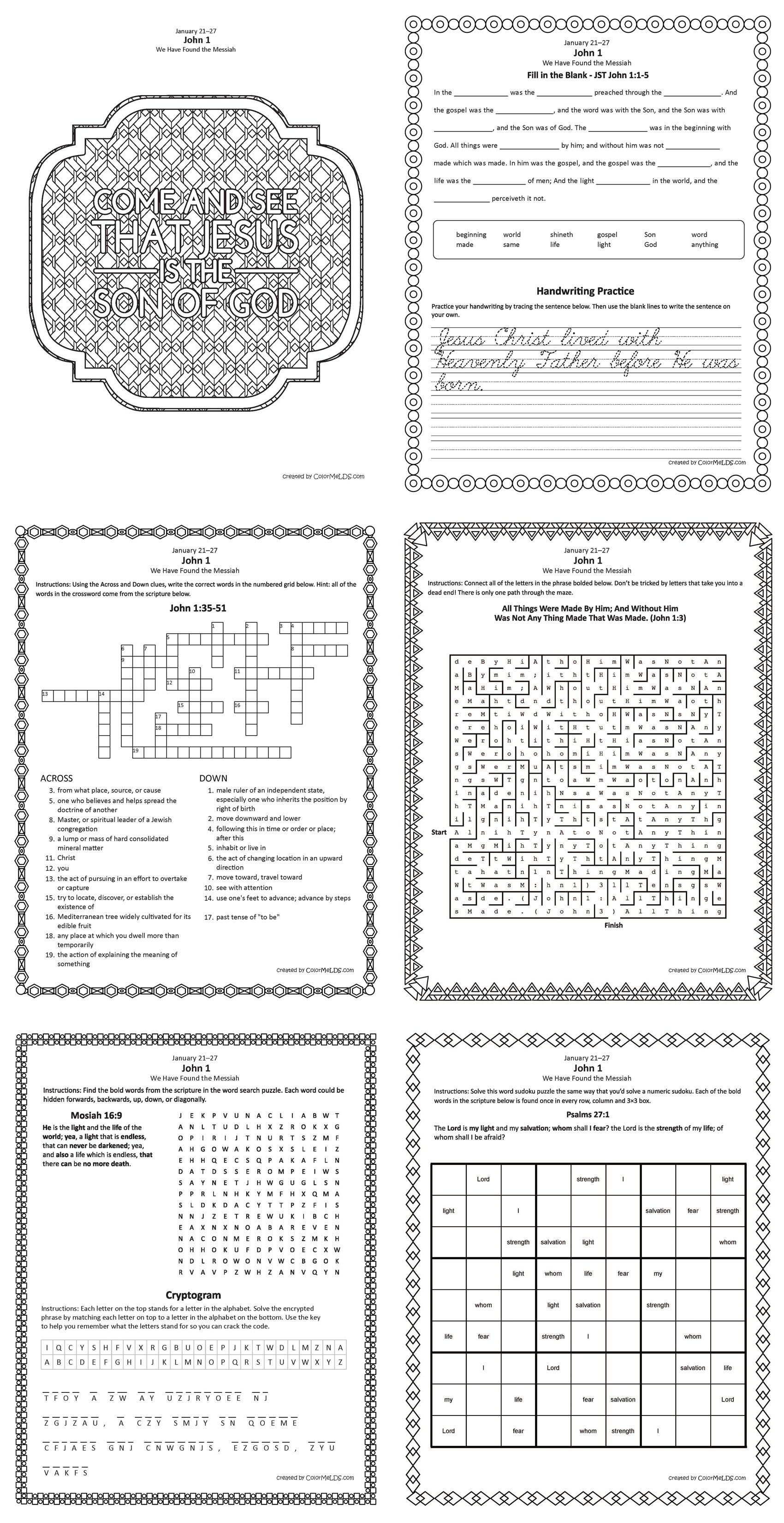 Pin On Come Follow Me Senior Primary Handouts Puzzles