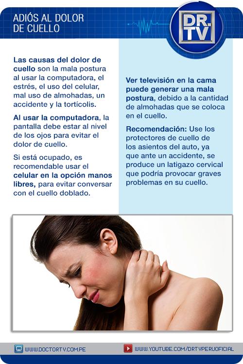 Dolor De Cuello Doctor Tv Dolor De Cuello Consejos Para La Salud Salud Y Bienestar