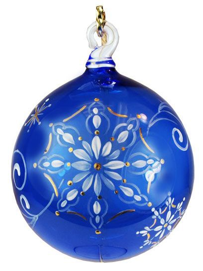 4 1 2 Ornament In Cobalt Blue Christmas Christmas Colors Glass Christmas Ornaments