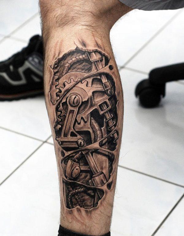 Insane Mechanics Tattoo Designs 26 Biomechanical Tattoo Mechanic Tattoo Gear Tattoo