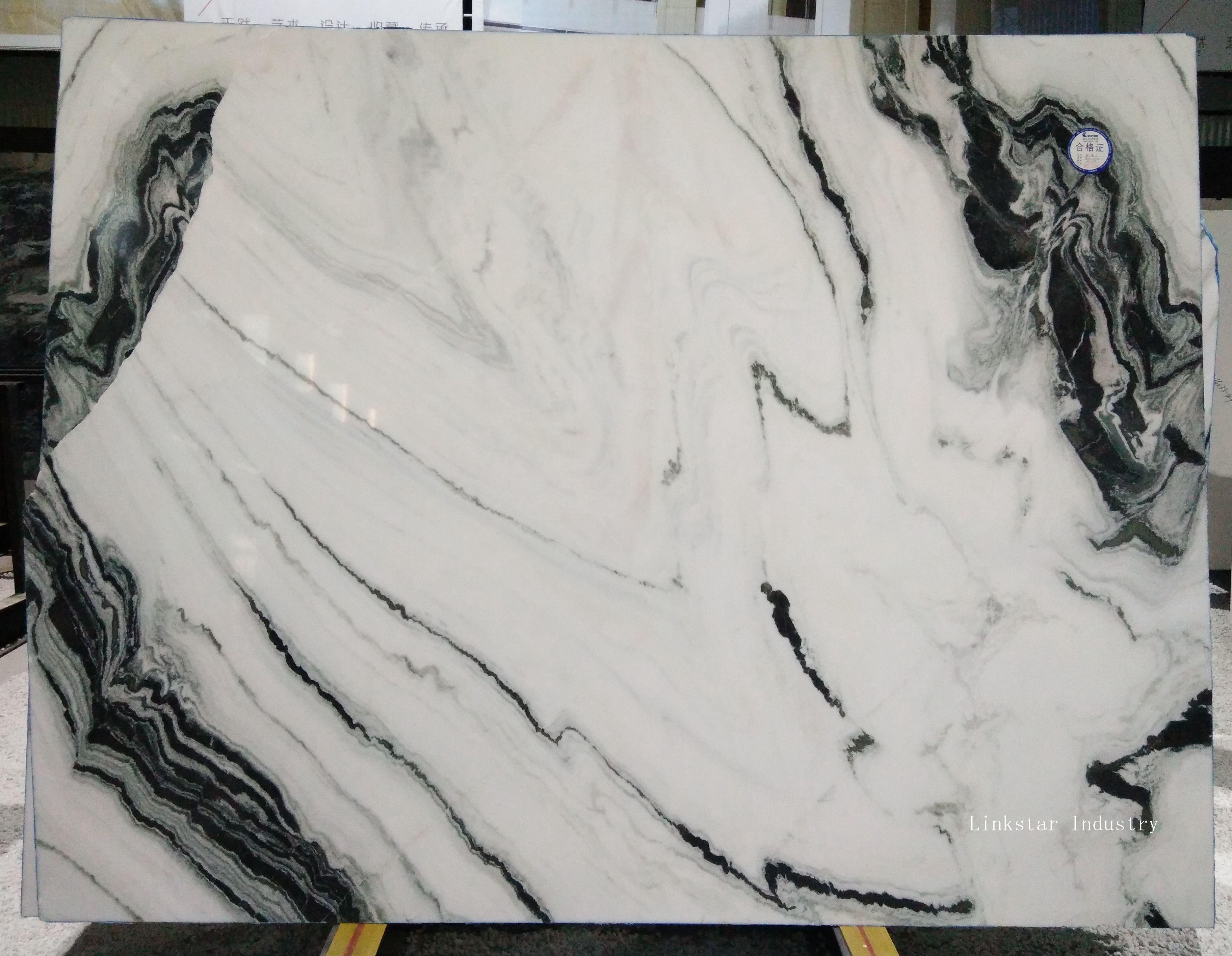 Panda White Stone Slab Tile