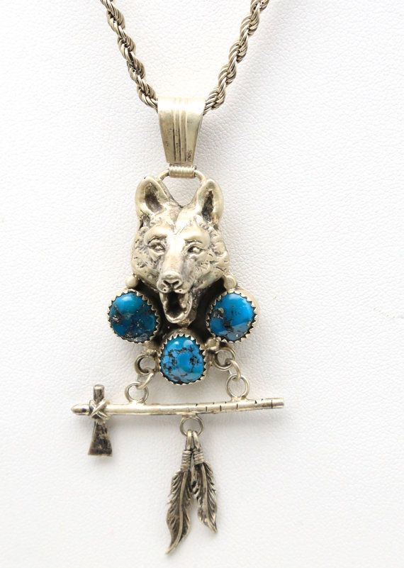 Reserved amaal payment 1 vintage navajo wolf tomahawk pendant reserved amaal payment 1 vintage navajo wolf tomahawk pendant necklace sterling silver turquoise signed begay native american mozeypictures Images