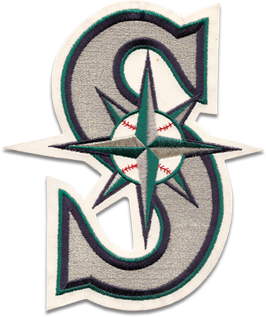 Sports Logo Patch Patches Collect Collection Sports Emblem Insignia Baseball Embroidery Embroidered Seattle Mariners Logo Patch Logo Logos