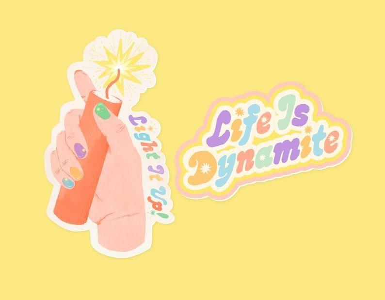 Bts Dynamite Sticker Hand And Lyrics Sticker Pack Etsy In 2020 Hand Sticker Stickers Packs Vinyl Sticker