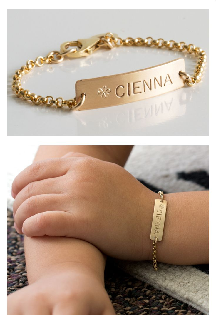 Gold Bar Bracelet Nameplate
