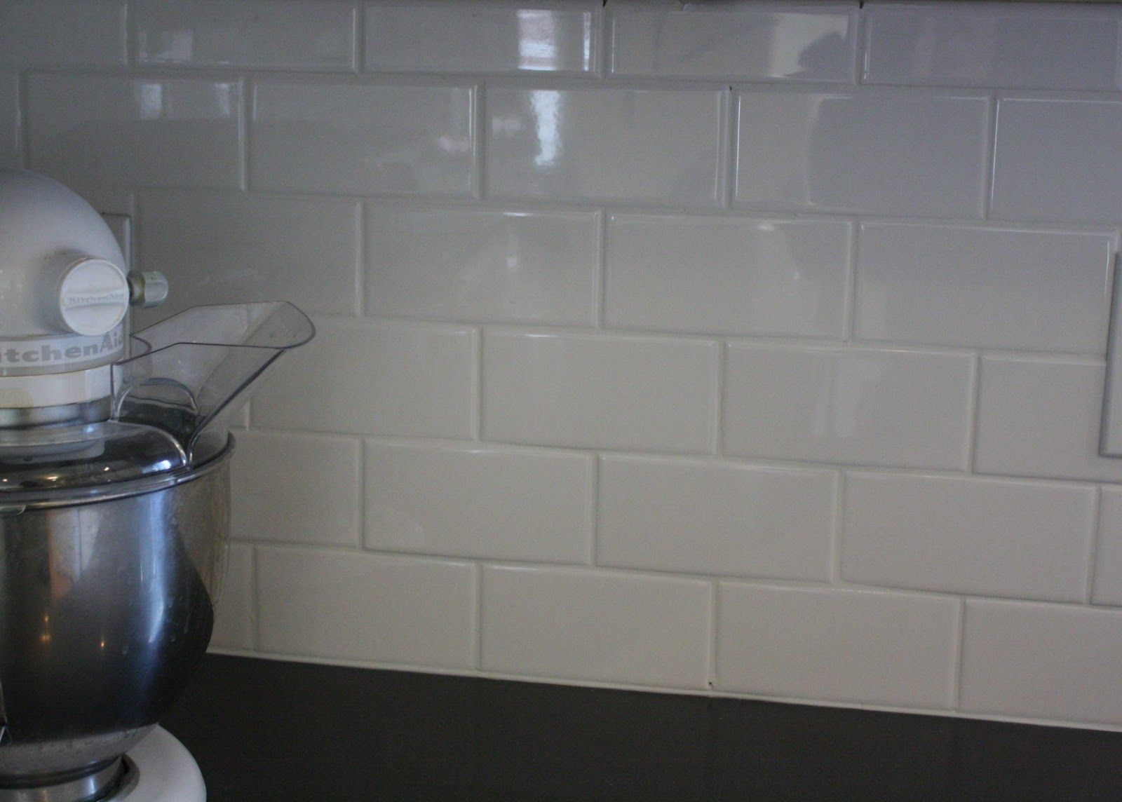 Kitchen Backsplash Grout Color no grout glass tile backsplash | love the pure white subway tile