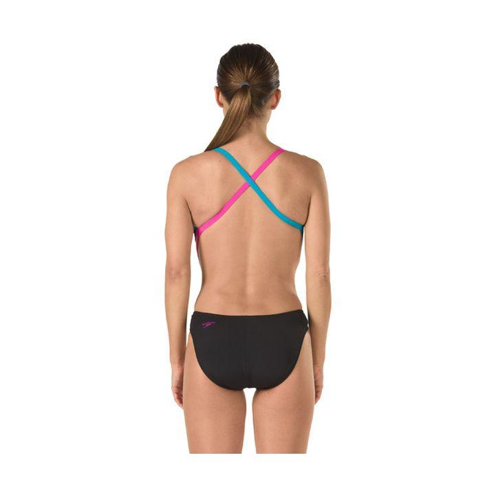 feb14f92238f3 Speedo Turnz Color Block Endurance Lite Vee 2 Female product image ...