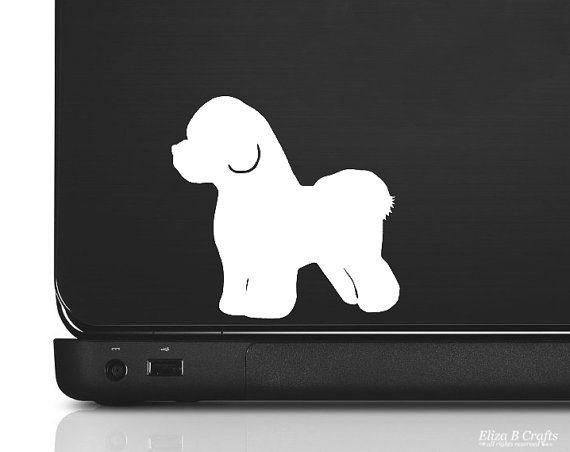 bichon frise silhouette vinyl sticker decal good by elizabcrafts 400 - Frise Vinyle
