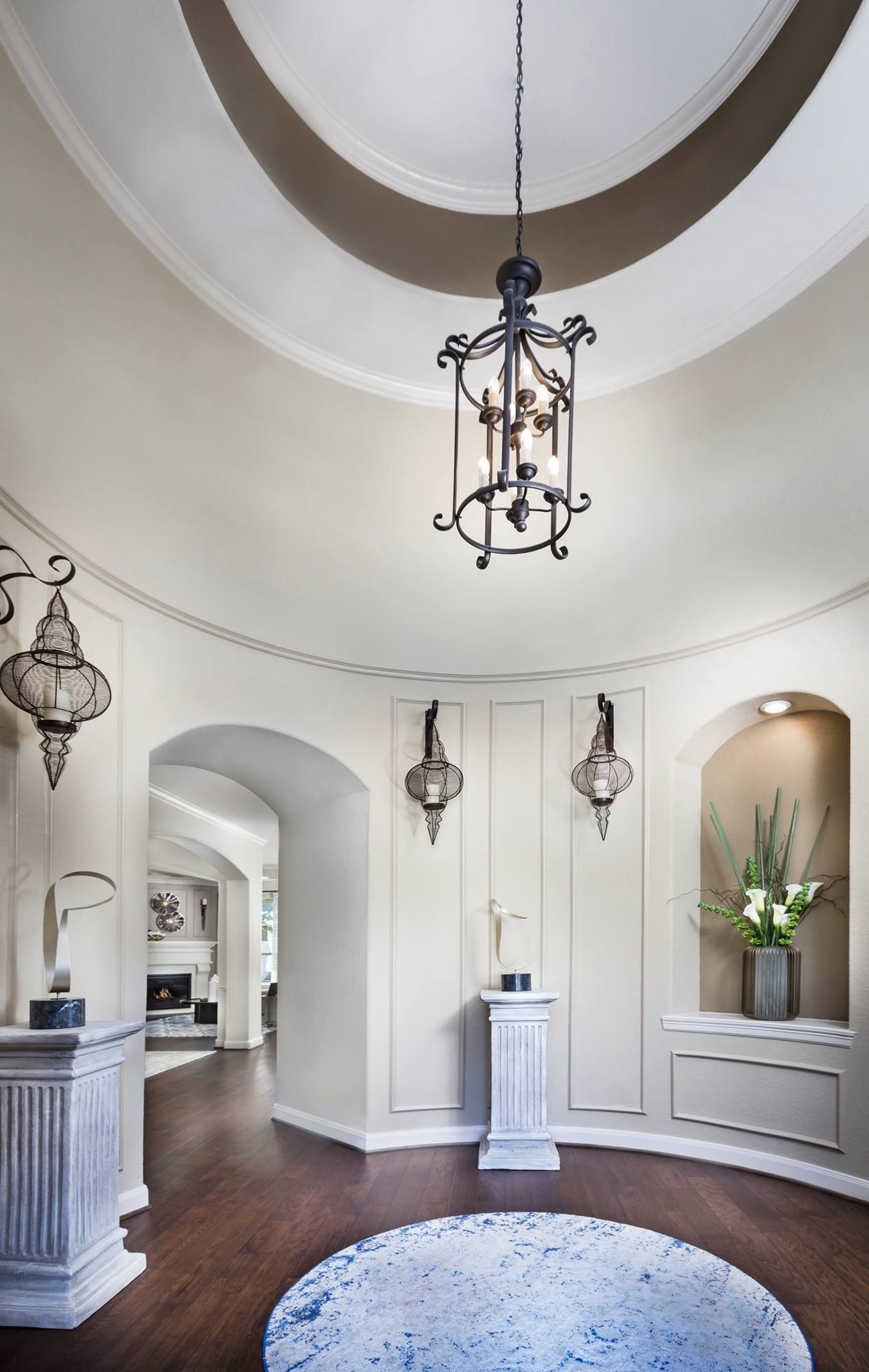 A stunning rotunda foyer makes a grand entrance! Would YOU want this in  your dream home?