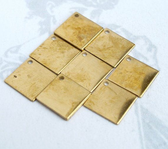 Brass Square Diamond Charms 8X M721 by EpochBeads on Etsy (Craft Supplies & Tools, Jewelry & Beading Supplies, Charms, brass, square, diamond, charm, charms, engrave, engravable, stamp, stamping, initial, engraveme, engraving)