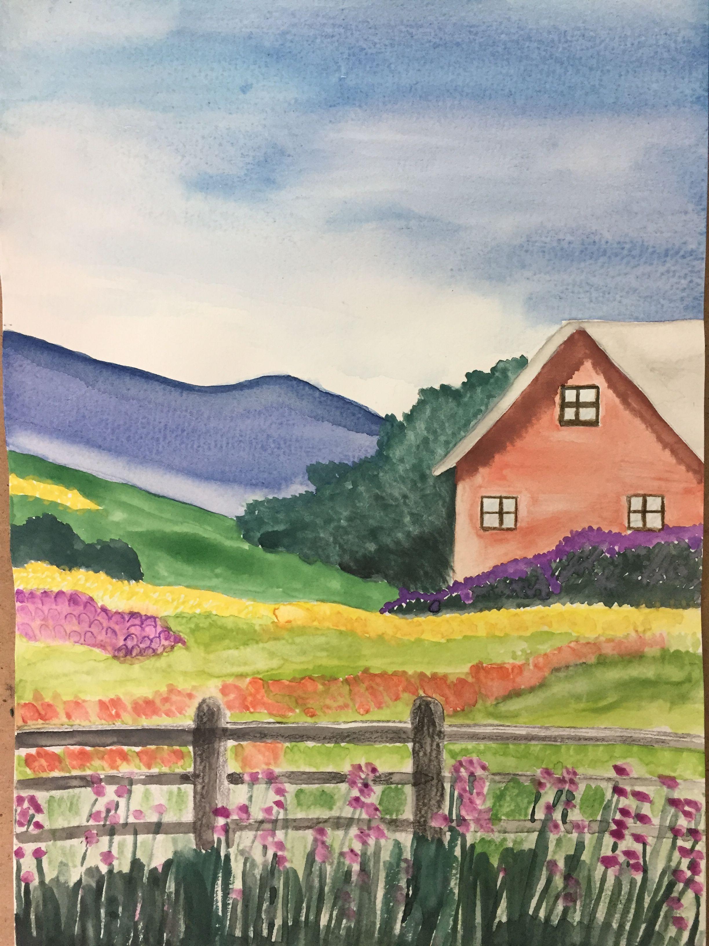 Yeni Yaptigim Resim Manzara Suluboya Watercolor Art Paintings Painting Watercolor Art