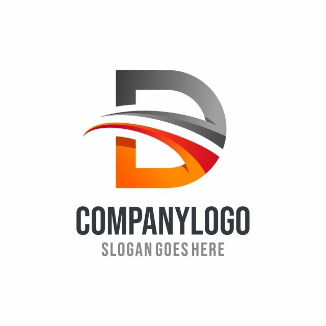 Letra D Logo D Logo Vector Illustration Vector Logo Letter D Lettering