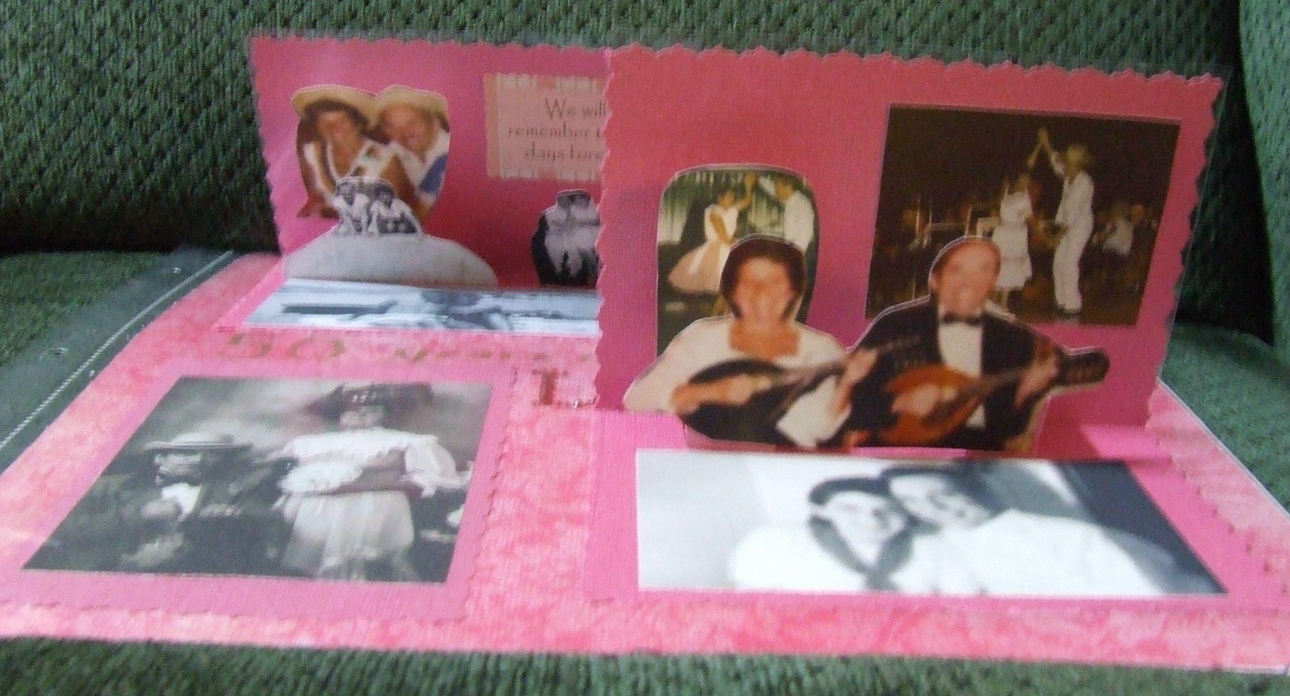 Rustic scrapbook memory book photo album our story so far