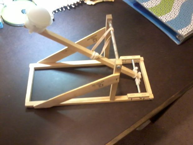 Ping pong ball catapult craft and creative for Catapult design plans for physics