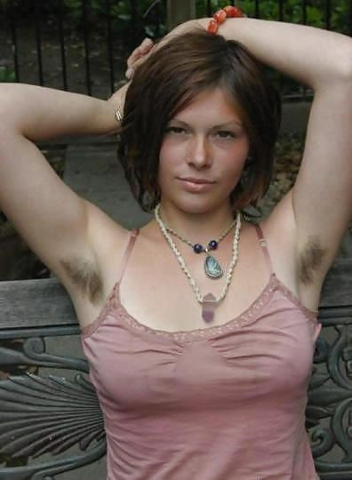 hairy armpits girls with Cute