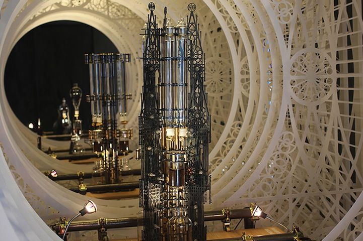 Complex Gothic Style Tower Functions as a Coffee Maker - My Modern Met