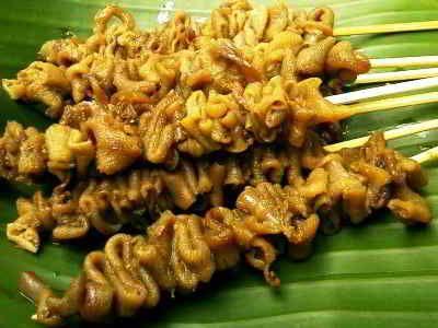 Resep Sate Usus Bumbu Kuning Ala Jeroan Angkringan Bumbu Balado Resep Masakan Indonesia Resep Masakan Resep Makanan Asia