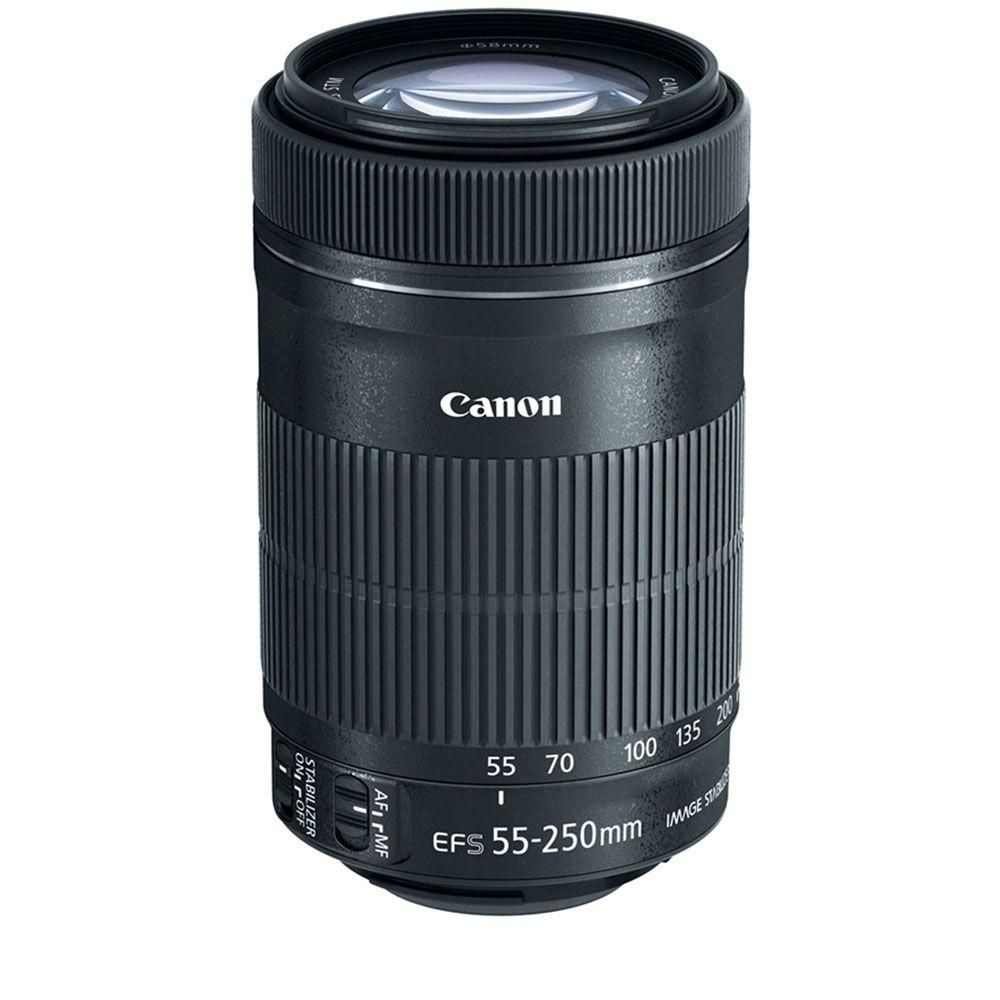 Ef S 55 250 Mm F 4 5 6 Is Stm Telephoto Zoom Lens Black Canon Lens Zoom Lens Telephoto Zoom Lens