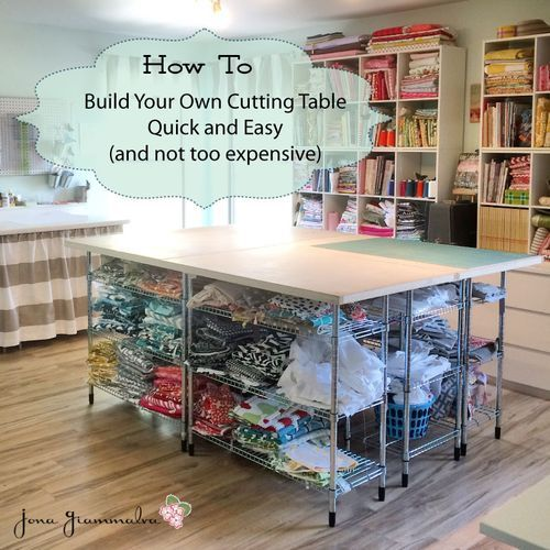 build your own diy cutting table for your sewing room craft room work room a simple tutorial. Black Bedroom Furniture Sets. Home Design Ideas