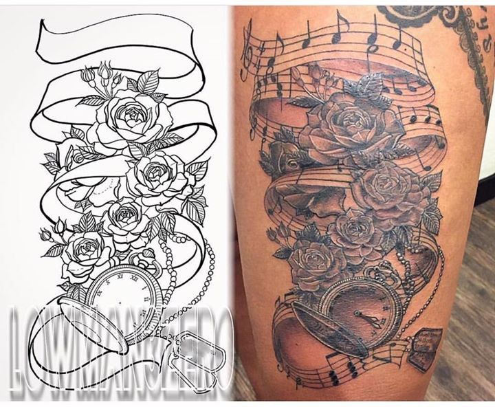 Memorial tattoo by lowman3zero from hotrod tattoo