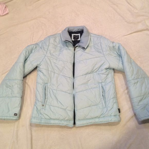 Abercrombie & Fitch Light Teal Winter Coat Abercrombie & Fitch Light Teal Winter Coat - Like New! Abercrombie & Fitch Jackets & Coats