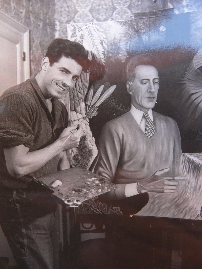 edouard dermit ex cutant le portrait de jean cocteau milly la for t 1951 for t portraits et. Black Bedroom Furniture Sets. Home Design Ideas