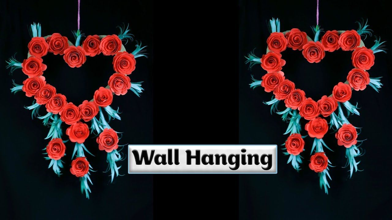 How to make quick flowers out of paper for wall hanging