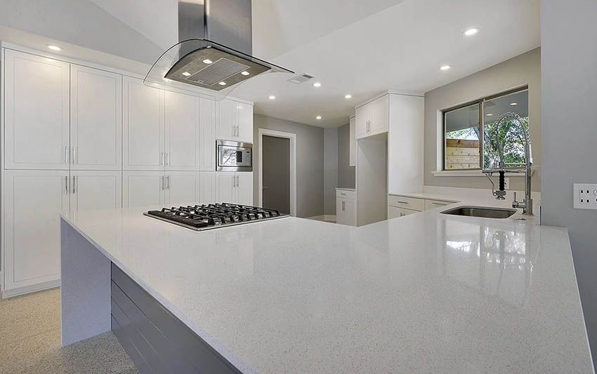 quartz countertops ultimate guide white kitchens quartz countertops gray quartz on kitchen island ideas white quartz id=32267