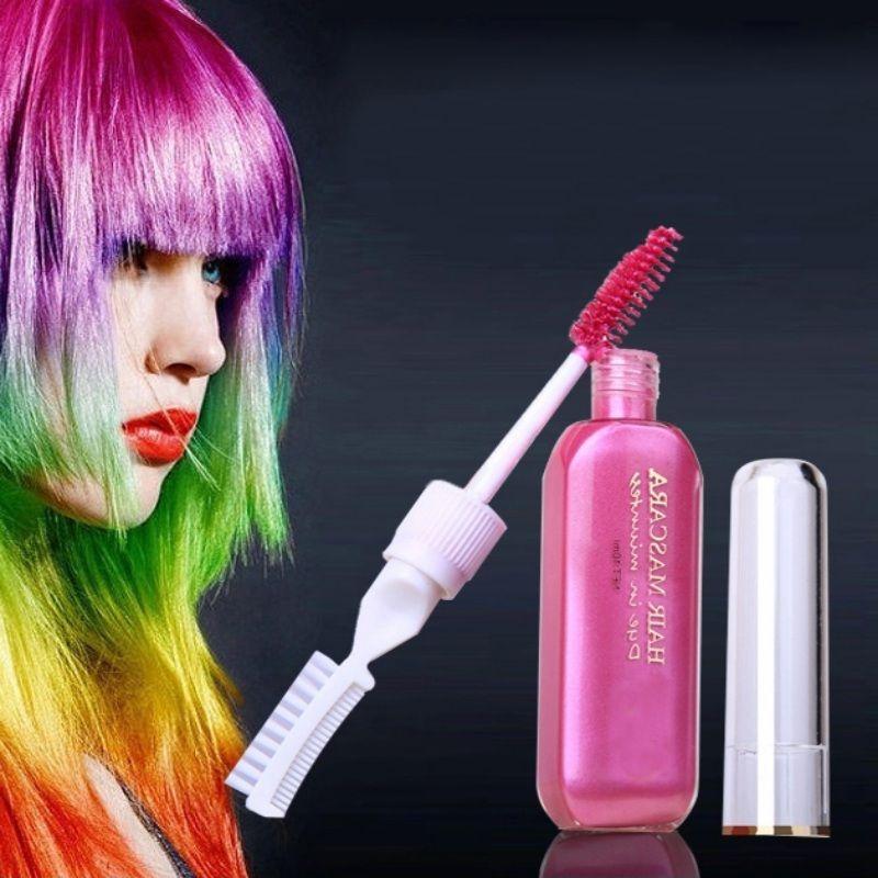 새로운 브랜드 헤어 염색 컬러 일회용 DIY Mutlicolor 다치게하지 머리 쉽게 청소 한 시간 임시 마스카라 헤어 크림